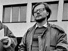 Jiří Surůvka (zcela vpravo) při sametové revoluci v roce 1989.
