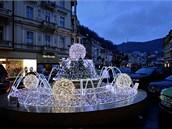 Světelné fontány a kašny slouží k nejrůznějším slavnostním příležitostem.