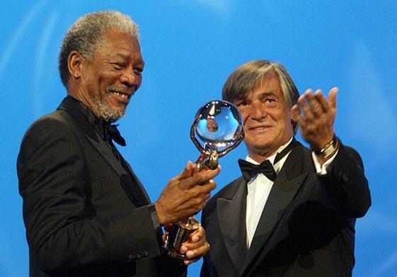 38. MFFKV - Morgan Freeman a Jiří Bartoška - Mezinárodní filmový festival