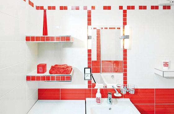 Mozaikou lze obložit zaoblená či jinak atypická místa jak v koupelně, tak v