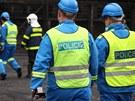 Policisté při vyšetřování okolností výbuchu v huti ArcelorMittal Ostrava.