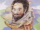 Francis Drake (asi 1540 – 1596). Korzár ve službách anglické královny.