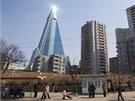 Hotel Ryugyong v severokorejském Pchjongjangu by se měl příští rok otvírat. K...