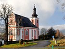 Kostel Božanov na Broumovsku.