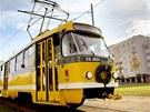 Poslední jízda tramvaje T3 v Plzni.