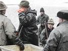 Výlov pětadvacetihektarového rybníka Lodrant v Trusnově na Holicku.