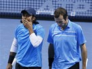 Radek �t�p�nek (vpravo) a Leander Paes usp�li i ve sv�m druh�m duelu na Turnaji