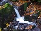 Kaskádovitý Stříbrný potok nad vodopády