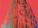 Pop-artové ztvárnění katedrály v Kolíně nad Rýnem od Andyho Warhola