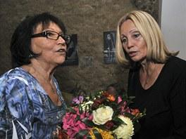 Marta Kubišová oslavila v divadle Ungelt sedmdesátiny (s Olgou Sommerovou)