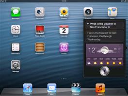 Siri je v iPadu mini jako doma, stačí nastavit příslušný jazyk (v tomto případě