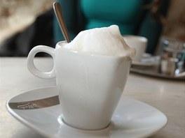 TAKHLE TEDY NE. S kapučínem z Café Mahler s pěnou, kterou vám do šálku s kávou