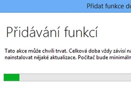 Instalace programu Windows Media Center chvilku zabere a počítejte i s