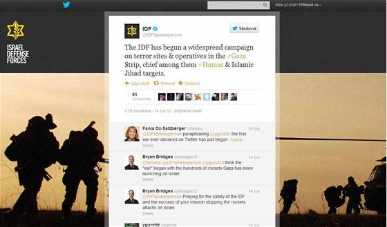 Twitter izraelských branných sil (IDF)