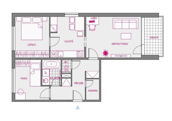 První varianta řešení bytu
