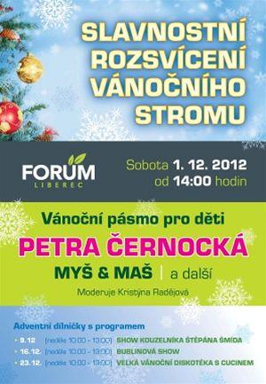 vánoční strom OC Forum Liberec