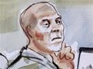 Seržant Robert Bales v soudní síni na základně Lewis McChord ve státě Washington (13. listopadu 2012)