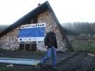 Starosta Malé Morávky Ondřej Holub v obecním Skiareálu Myšák, kde se na jaře