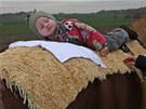 Kristínka (22.měsíců) na hipoterapii s koněm Vaškem v Ludgeřovicích na Opavsku.