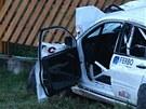 Závodní vůz vyletěl při rallye u Lopeníku z trati a zabil čtyři diváky. (10.