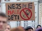 K protestu na budějovickém centrálním náměstí, který svolali studenti