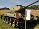 Východoněmecký tank u parkoviště v Mödlareuthu.