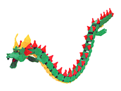 Drak, pohyblivý 3D model