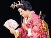 Eva D��zgov� Jiru�ov� jako Madama Butterfly.