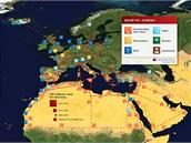 Projekt na supersíť obnovitelných zdrojů elektřiny Desertec.