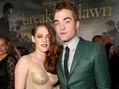 Kristen Stewartová a Robert Pattinson na premiéře filmu Rozbřesk - 2. část (Los