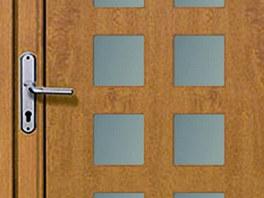 Vchodové dveře z hliníkových velmi poctivě vyteplených profilů Heroal 110ES