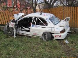Tragická nehoda závodního vozu na RallyShow Uherský Brod 2012.