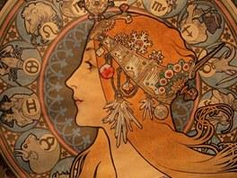 Z ostravské výstavy Alfonse Muchy