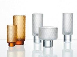 Sklenice na whiskey, vodu a likéry z broušeného skla z kolekce Plečnik