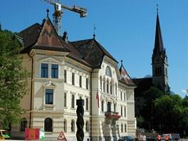 Tady sídlí lichtenštejnská vláda.