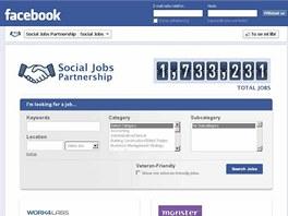 Facebooková aplikace na hledání práce