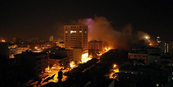 Noční nálety izraelské armády na Pásmo Gazy  (21. listopadu 2012)