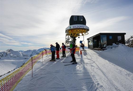 Wildspitz, nejvyšší bod střediska (3 212 m).