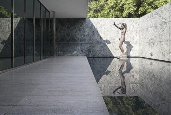 Jedinou ozdobu představuje socha Georga Kolbeho - Úsvit.