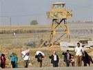 Ze Sýrie do Turecka už uprchly desetitisíce lidí (18. listopadu 2012)