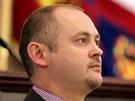 Ustavující zastupitelstvo Jihomoravského kraje (na snímku hejtman Michal Hašek)