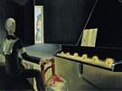 Salvador Dalí: Hallucination partielle. Six images de Lénine sur un piano