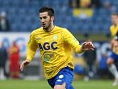 Útočník Aidin Mahmutovič pomohl gólem k teplickému vítězství nad Brnem.
