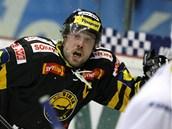Litvínovský kapitán Michal Trávní�ek slaví vít�zný gól v duelu proti Kladnu.