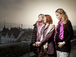 Iva Janžurová s dcerami pro Magazínu DNES