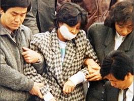 Atentátnice Kim Hjon-hi po zadržení