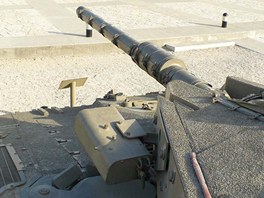 Merkava Mk.2 dostala mimo jiného pláty přídavného pancéřování na věž