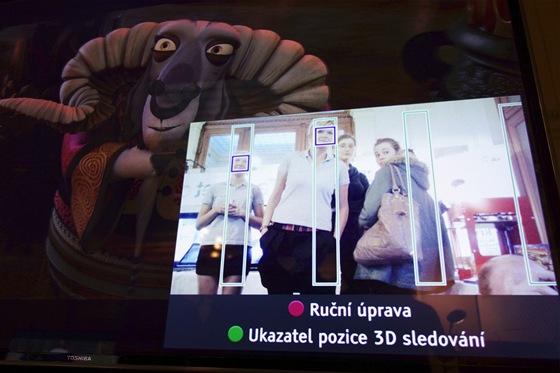 rozpoznávání obličejů na televizoru Toshiba 55ZL2