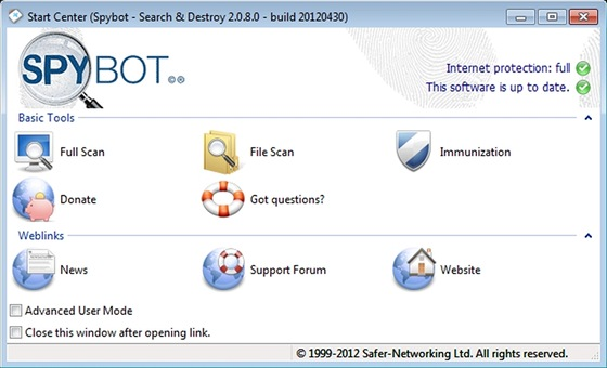 Spybot Search&Destroy