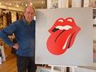 John Pasche u svého návrhu pro Rolling Stones